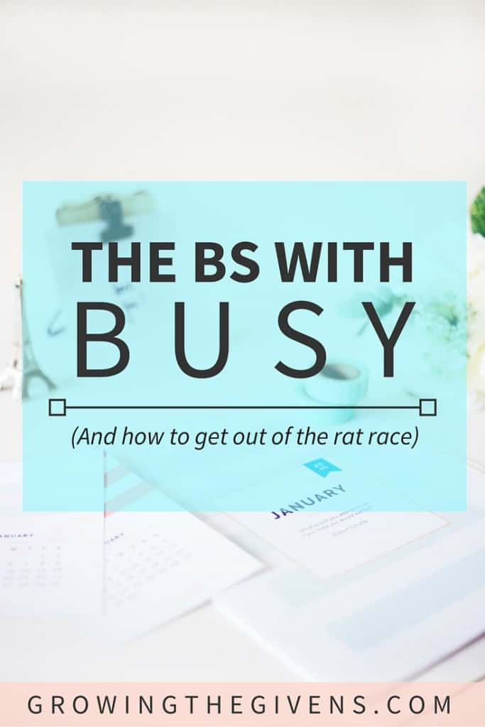 A short guide on how to stop chasing the busy standard.