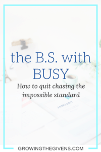 A short guide on how to stop chasing the standard of busy. Encouraging you to enjoy the little things and focus on progress not perfection.