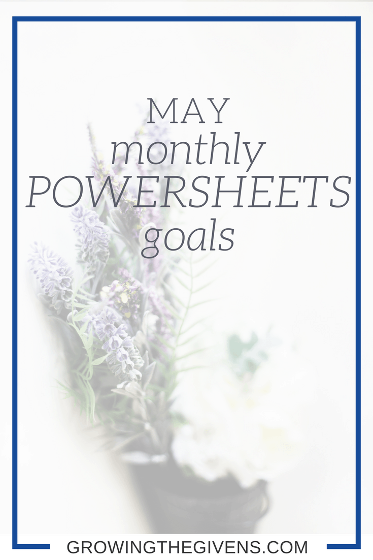 A look at my monthly goals set by using my Powersheets.