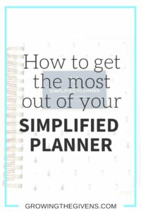 Get the most out of your Emily Ley Simplified Planner using these helpful and easy tips!