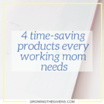 As a working mom, saving every minute you can in your day is critical. Use these products to save you time in your day so you can spend more time with your kids!