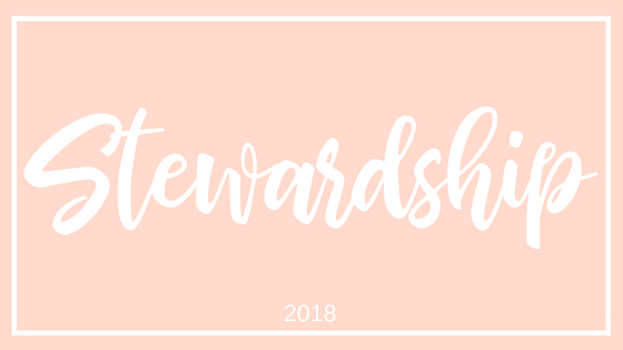 2018 Focus Word of the Year - STEWARDSHIP