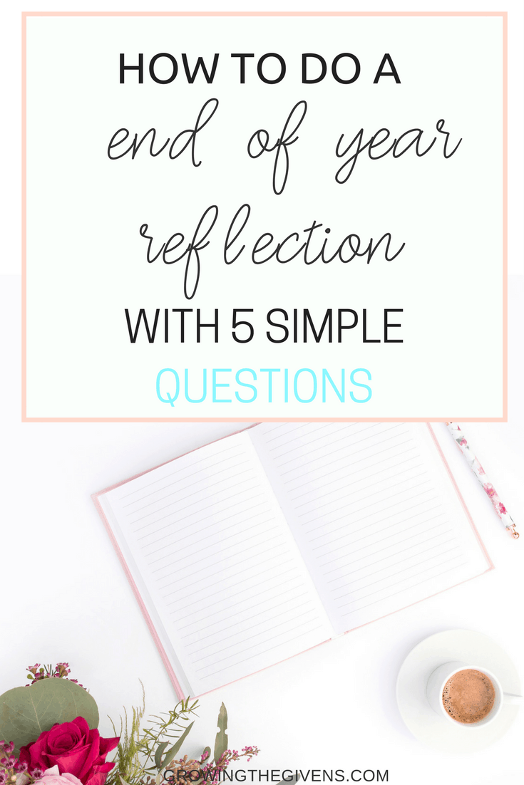 Before you set your goals or make resolutions, be sure to complete a personal end of year reflection with these thoughtful reflection questions. 