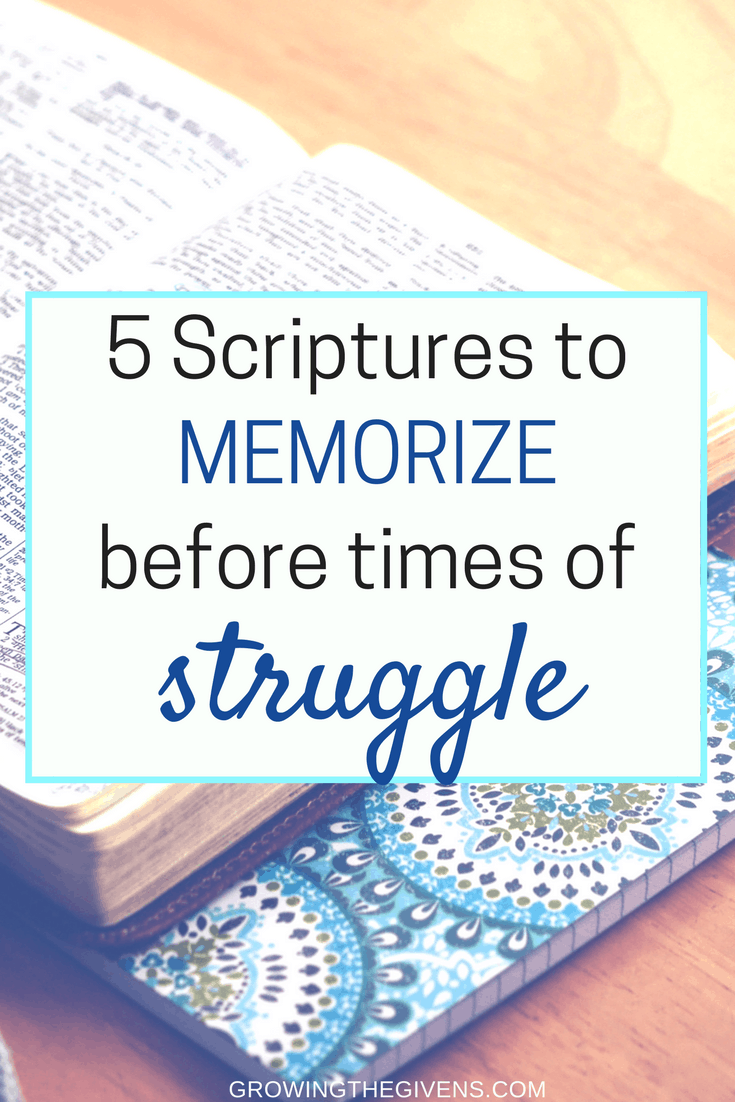 Five scripture verses to give you encouragement during hard times. Work on memorizing these five bible verses to prepare you before you face trials.