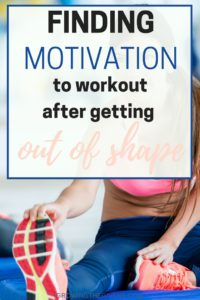 Finding Motivation to Workout after getting out of shape and other healthy living tips.