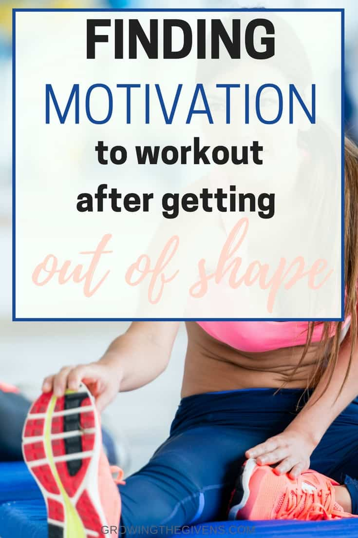 Tips and tricks to find the motivation to workout and get back in shape while losing weight. Stay motivated as you go through your fitness journey with a few strategies I have tried and encouragement from someone who is also trying to get in shape!