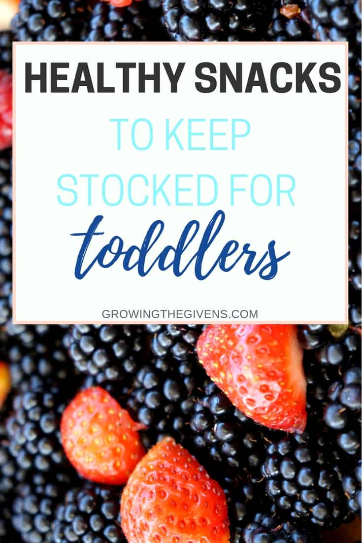 Make Mom Life easy! Keep these healthy snacks for toddlers stocked in your kitchen so you are always ready with a nutritious snack while on the go.