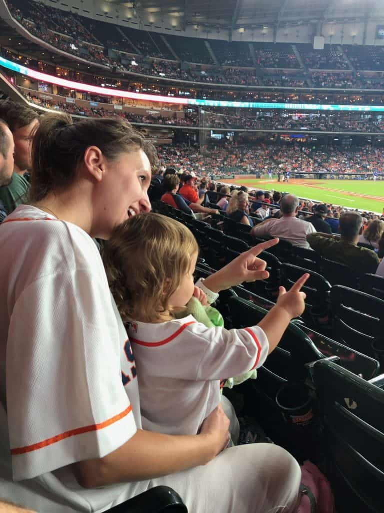 Family Summer Bucket List - at a baseball game