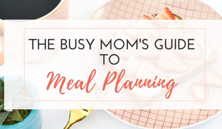 Meal Planning Guide for Moms - It can be hard to get started with meal planning if you feel like a beginner or aren't clear how to make meal planning efficient for your family. Use this ultimate meal planning printable to help you streamline dinner time! Guide includes a shopping list, weekly meal plan calendar and a recipe bank!