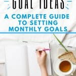 monthly goal setting ideas