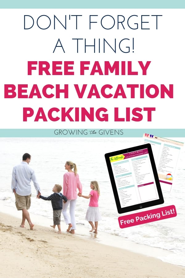 Beach Vacation Packing List Tour Holiday