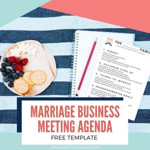 Free Marriage Business Meeting Agenda Download Sign Up Form