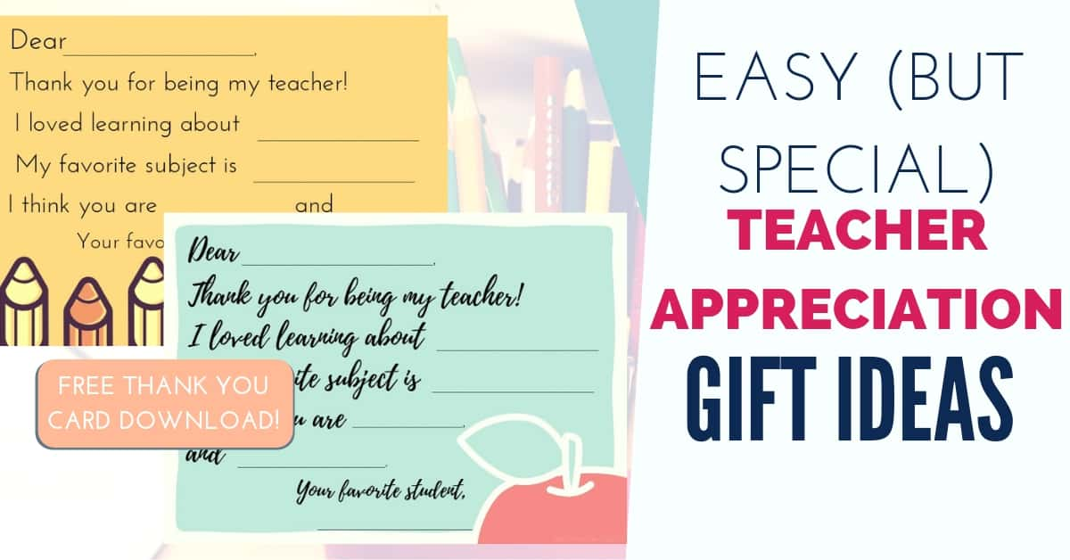 Teacher Appreciation Gift Ideas With Free Printable Card Growing The Givens
