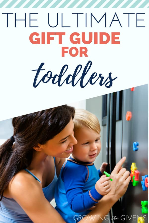 The Ultimate List of Great Gifts for Toddlers - This list of gifts for toddlers is perfect for girls and boys. If you need a gift for a birthday or getting a start on you Christmas shopping, use this list to guide you to picking out the best gift for the little kids in your life! 