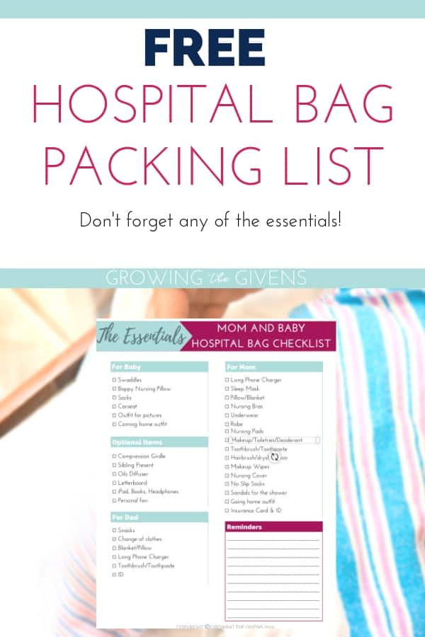 picture about Hospital Bag Checklist Printable named What Yourself Have to have (and Dont!) in direction of Pack inside your Healthcare facility Bag +