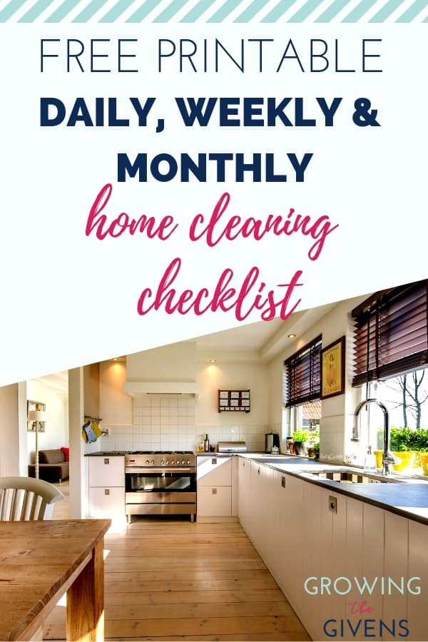 Working Mom Cleaning Checklist - Free Printable